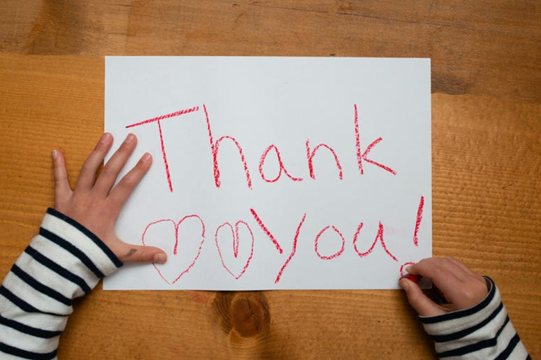 DOC SHOW AUDIO: No Thank You on Thank You Cards!