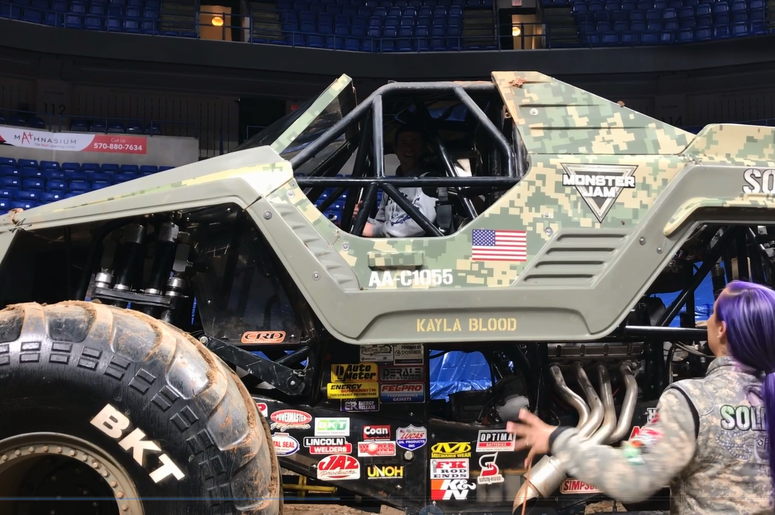 VIDEO: Crockett takes you inside the driver seat of a Monster Truck!