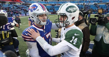 Josh Allen and Sam Darnold
