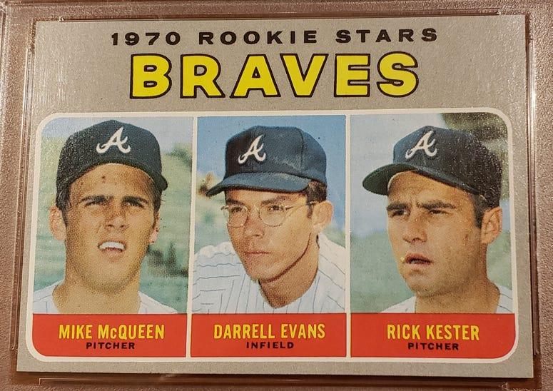 1970 Braves Rookie Stars card