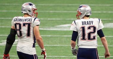 Rob Gronkowski and Tom Brady