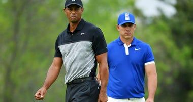 Tiger Woods and Brooks Koepka