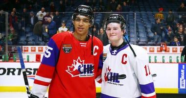 Quinton Byfield and Alexis Lafrenière