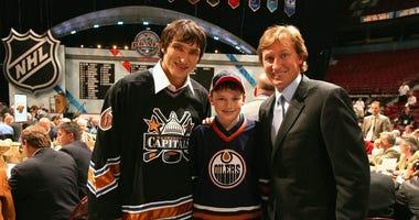 Alexander Ovechkin and Wayne Gretzky