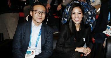Joe Tsai and Michelle Kwan