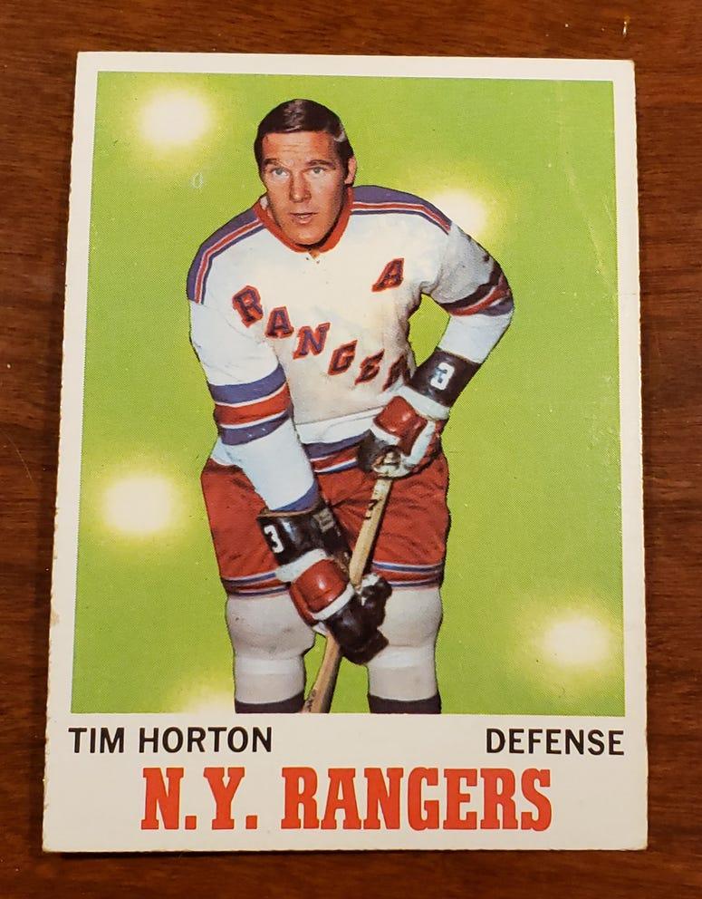 1970-71 Topps No. 59 Tim Horton card