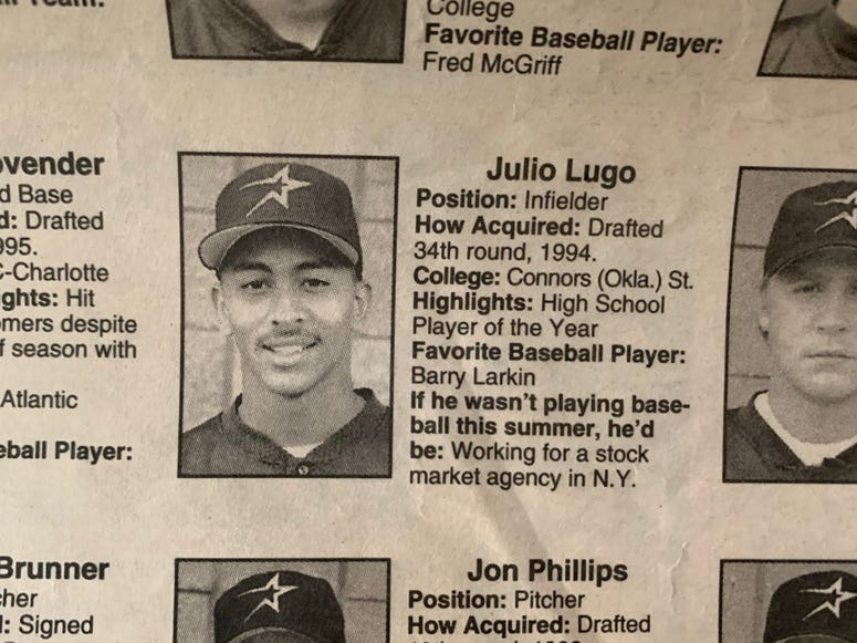 By the way, Manny Acta was the manager.