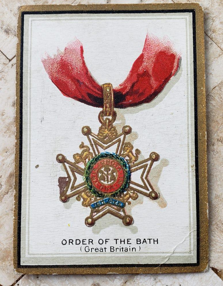 1911 American Tobacco T56 Order of the Bath card