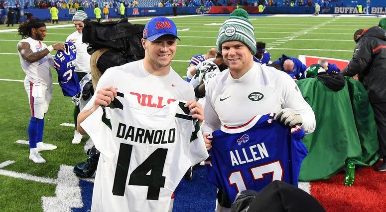 Josh Allen and Sam Darnold