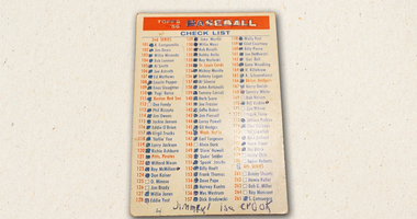 Card of the Day - Baseball Checklist