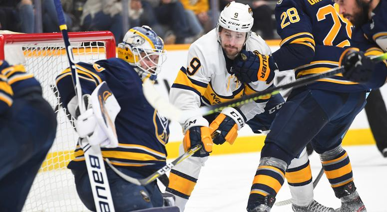 The Sabres couldn't overcome two bad bounces