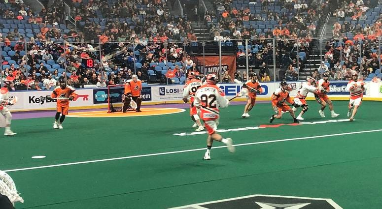 Bandits beat Black Wolves 12-6; Clinch 1st place in NLL East