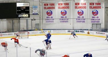 New York Islanders practice