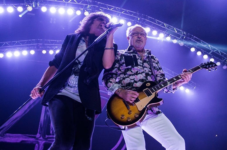 Kelly Hansen and Mick Jones of Foreigner