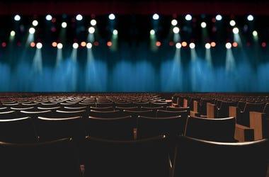 An empty concert venue.