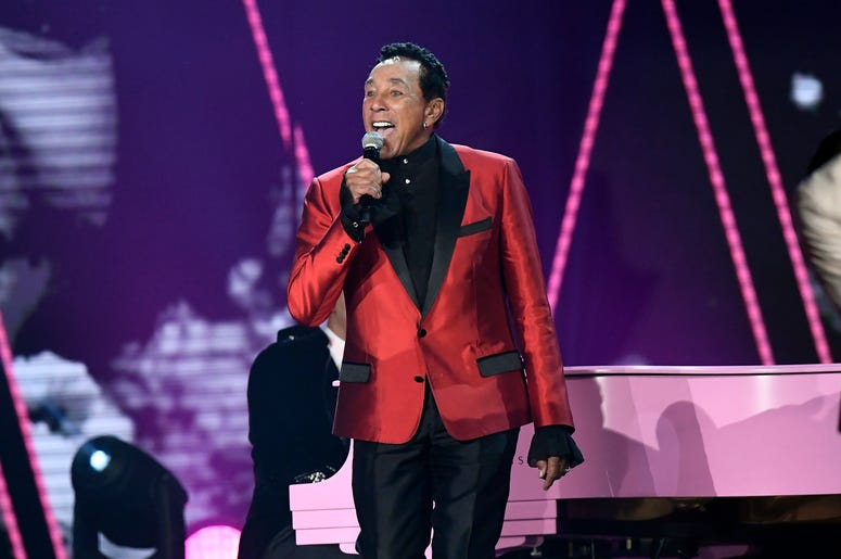 Smokey Robinson In Red Suit
