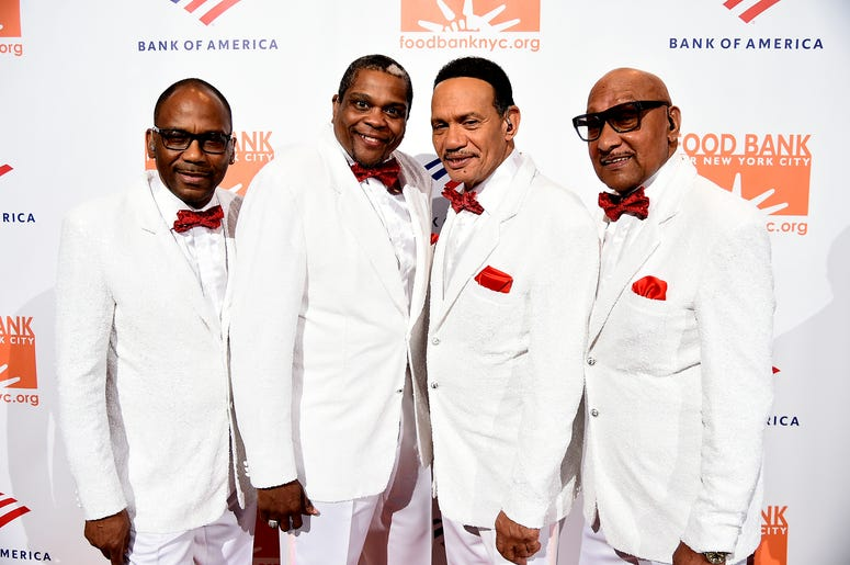 The Four Tops In White Suits