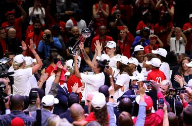 The Washington Mystics are celebrating their 2019 championship.