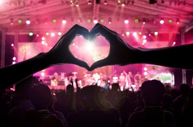Hand Heart At Concert