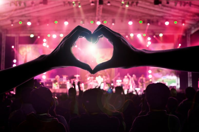 Hand Heart At Concert