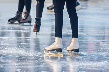 An outdoor ice rink in Silver Spring is open for business.