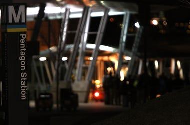 Pentagon metro station.