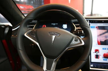 A Tesla being driven on autopilot caught fire.
