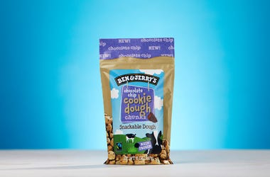 A bag of Ben and Jerry's Cookie Dough