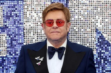 """Executive producer Sir Elton John attends the """"Rocketman"""" UK premiere at Odeon Luxe Leicester Square on May 20, 2019 in London, England."""