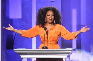 Oprah says she had nothing to do with the royal couples decision.