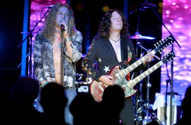 Two Members Of Led Zeppelin 2 On Stage
