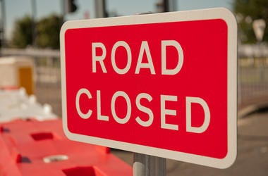 Road closures are scheduled due to movie filming.