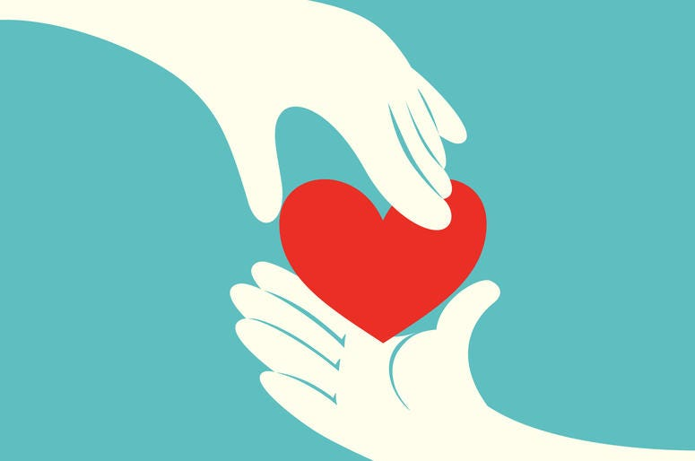 Two Hands With A Heart In The Middle