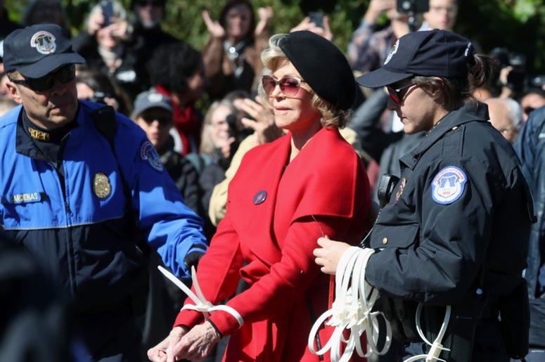 "Jane Fonda is ending her ""Fire Drill Fridays""."