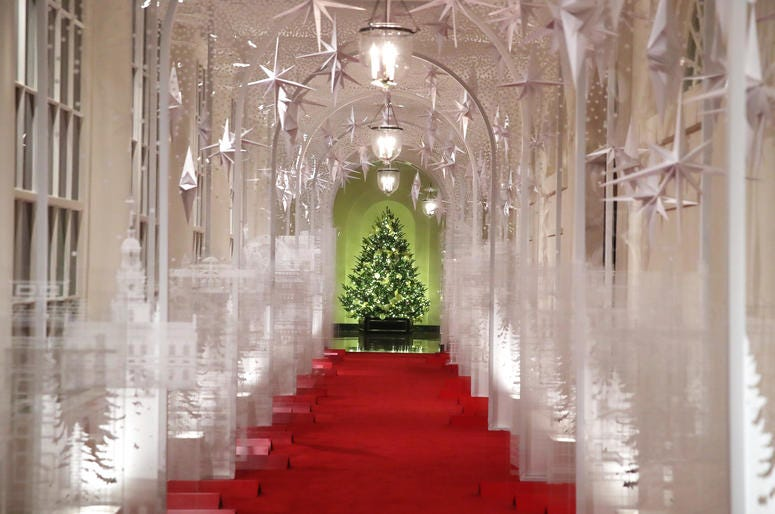 The White House is decked out for Christmas.