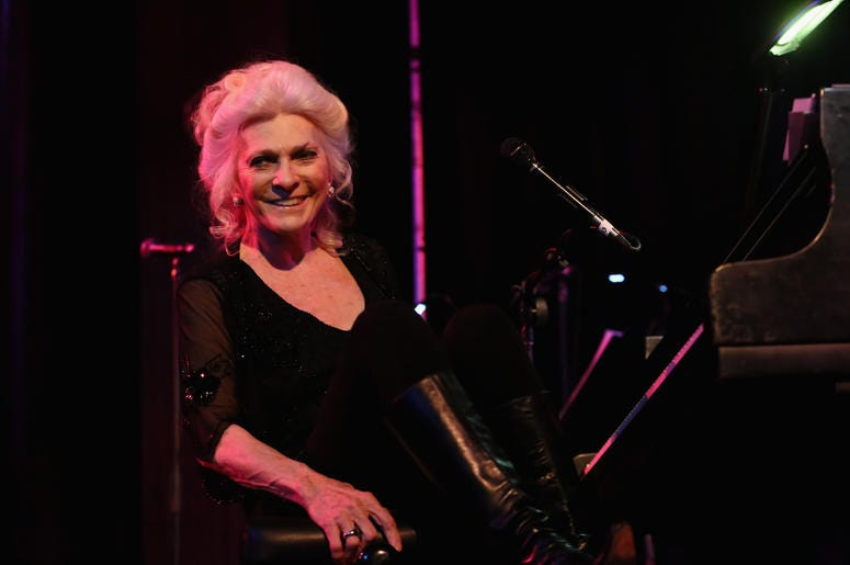 Judy Collins Sitting At Piano
