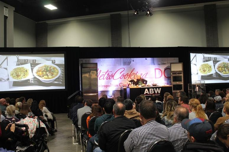 Jacques & Claudine Pépin on the James Beard Foundation Cooking Stage