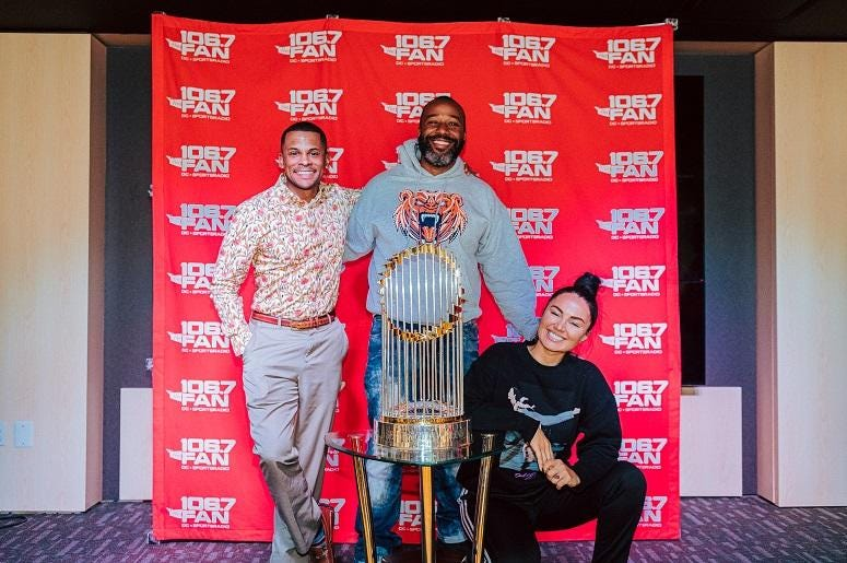 WPGC's Joe Clair Morning Show gave the trophy some love.