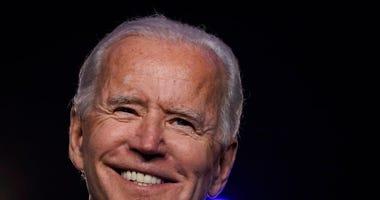 : Democratic presidential nominee Joe Biden addresses the nation at the Chase Center November 06, 2020 in Wilmington, Delaware.