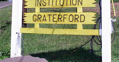 A Sign In Front Of Graterford Prison Is Displayed July 20, 2001 At Graterford, Pa.