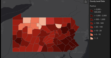 Pa Governor website on coronavirus in the state