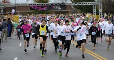 Runners race through Maryland Farms during Race for the Cure in 2012 in Nashville