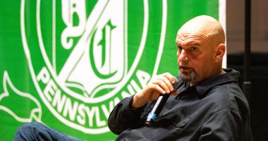 Lt. Gov. John Fetterman acted as a conversation moderator while residents voiced their opinions on the legalization of recreational marijuana. I