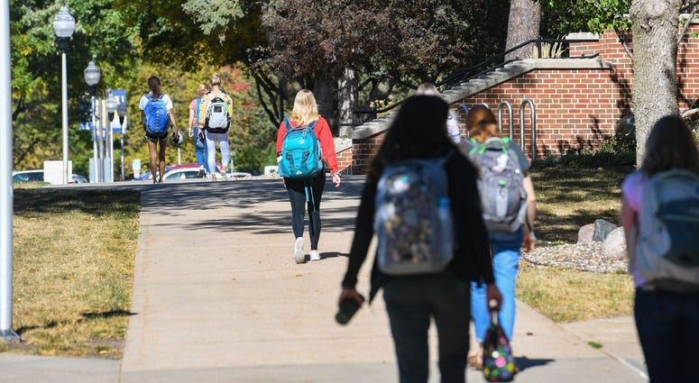 Students live and work on campus on Wednesday, October 7, at Augustana University in Sioux Falls. Augustana C