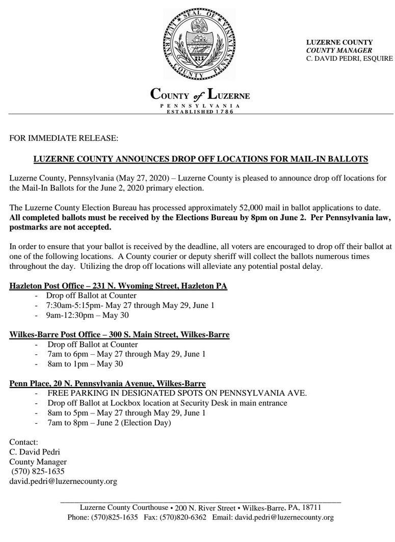 Luz. County news release