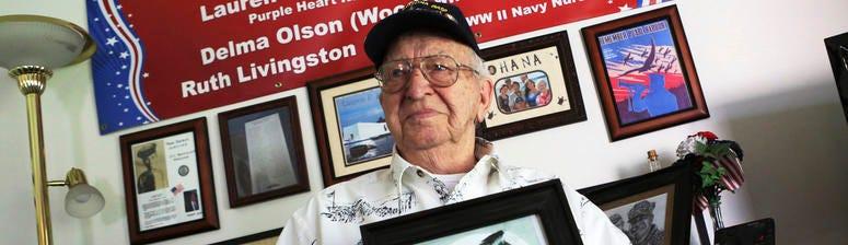 Navy vet's ashes destined for sunken Pearl Harbor battleship