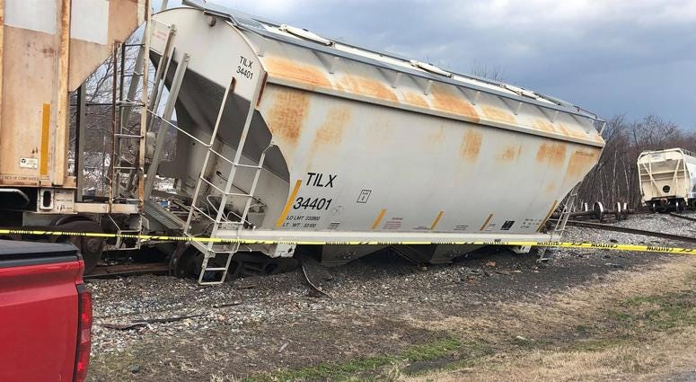Train Derailment in Dickson City