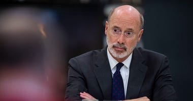 Pennsylvania Gov. Tom Wolf has outlined the broad criteria that will shape his plan for reopening Pennsylvania from the coronavirus shutdown. (Photo by Rick Kintzel/Allentown Morning Call/TNS/Sipa USA)