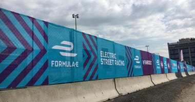 The Formula E race is happening in Red Hook this weekend.
