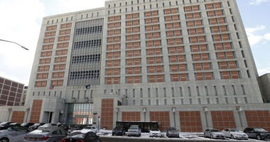 This Jan. 8, 2017 file photo shows the Metropolitan Detention Center (MDC) in the Brooklyn borough of New York. An inmate at the jail died after being pepper sprayed by officers in his cell, the federal Bureau of Prisons said, Wednesday, June 3, 2020.